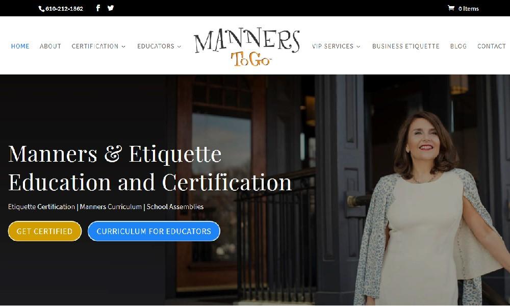 Etiquette Training Website