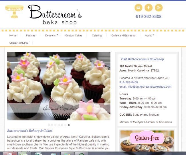 Bakery Website Design | Buttercreams bakeshop