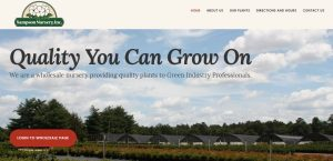 Marketing services completed for Sampson Nursery - WordPress website