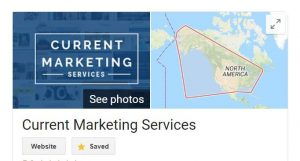 Current Marketing Services Google My Business listing